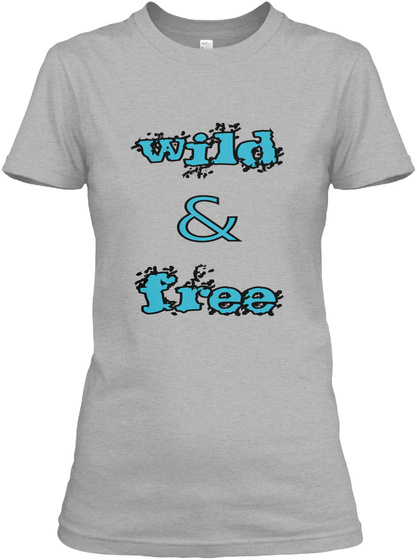 Wild & Free Sport Grey Camiseta Front