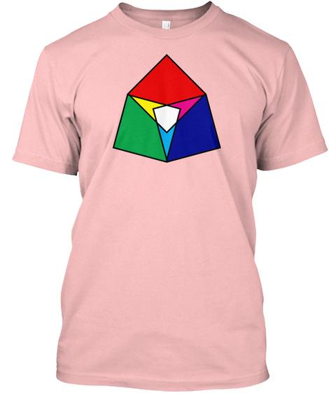 Square Venn Pale Pink T-Shirt Front