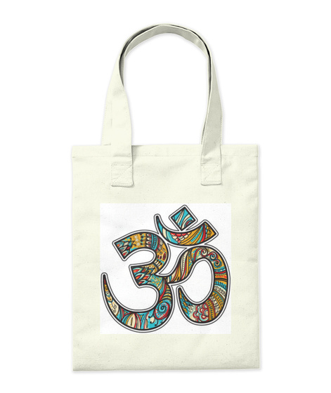 Om Accessories And Clothing Natural T-Shirt Back