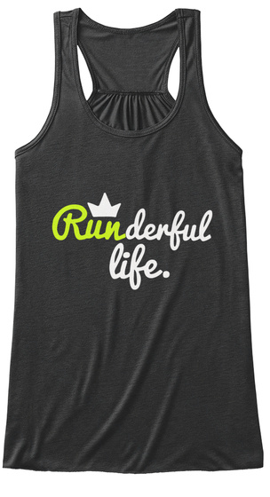 Runderful Life Dark Grey Heather Vrouwen Tank Top Front