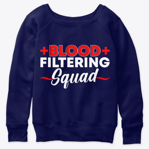 Blood Filtering Squad Neurology ,2020 Navy  T-Shirt Front