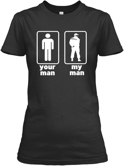 Your Man My Man Black Women's T-Shirt Front
