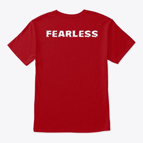 Fearless Wear Deep Red T-Shirt Back