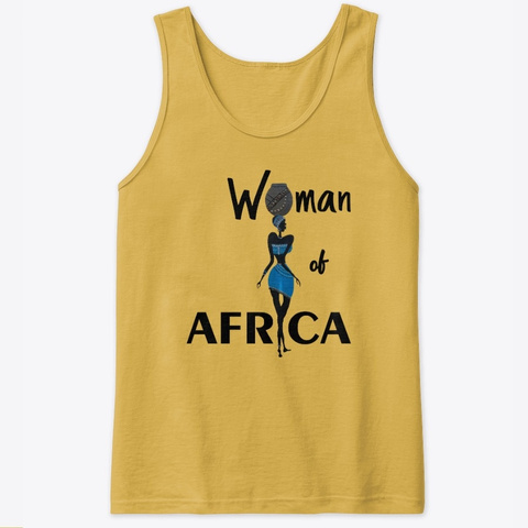 Woman Of Africa Gold T-Shirt Front