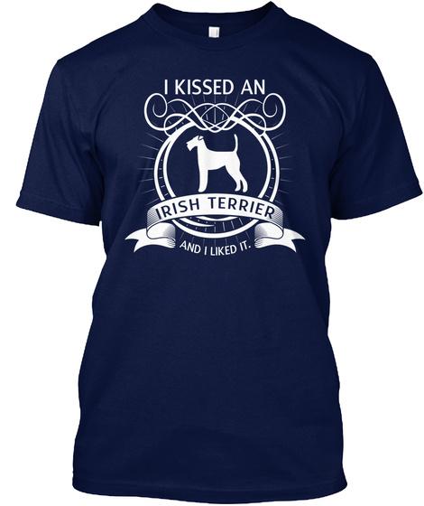 Irish Terrier Navy T-Shirt Front