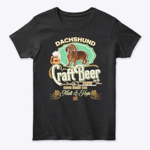 B Dachshund Gifts Black T-Shirt Front
