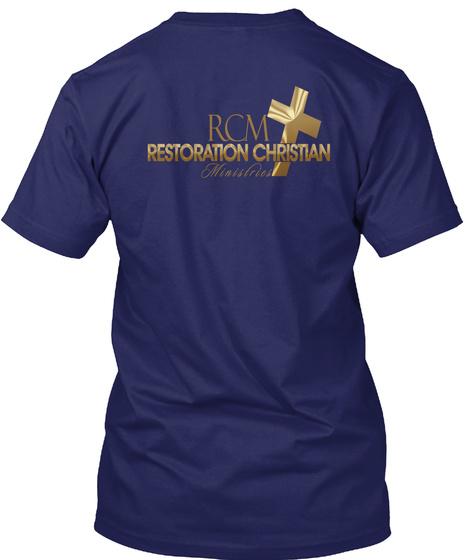 Rcm Teen Ministry Navy T-Shirt Back