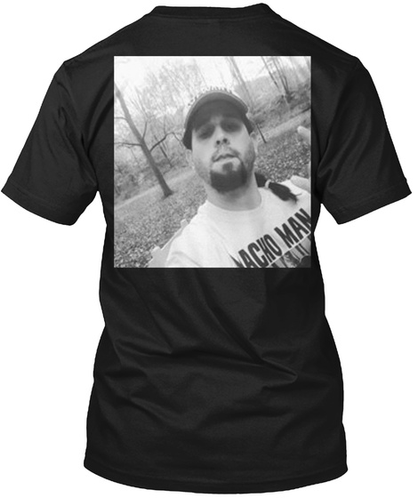 Macho Man Black T-Shirt Back