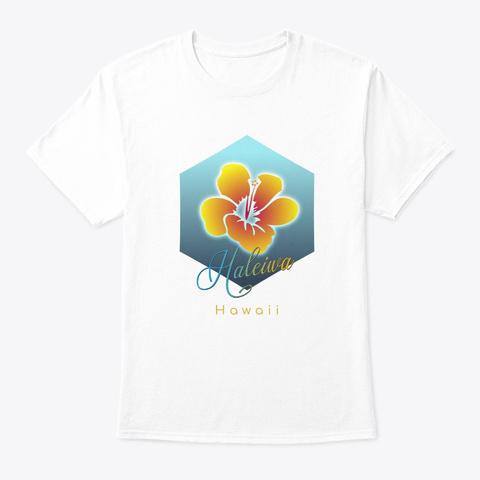 Haleiwa Hawaii Surfing Beach White T-Shirt Front