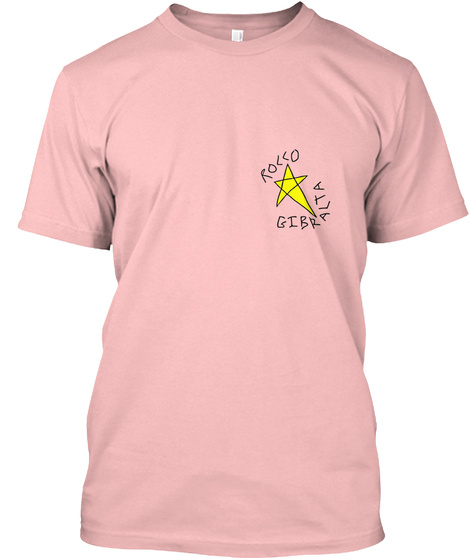 Rollo Gibralta Pale Pink T-Shirt Front