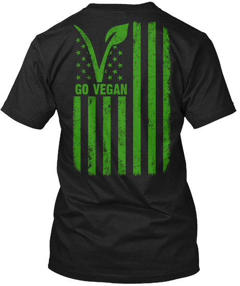 Go Vegan Black T-Shirt Back