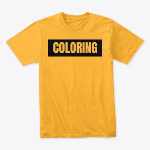 Mister 'coloring' Box Logo | Black Gold T-Shirt Front