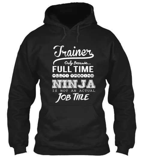 Ninja Trainer  Black T-Shirt Front