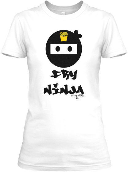 FryNinja White Women's T-Shirt Front