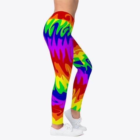 Rainbow Waves Leggings Standard T-Shirt Right