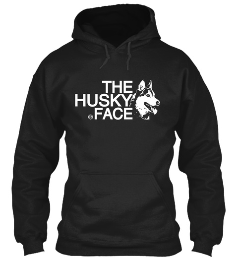 The Husky Face Black Maglietta Front