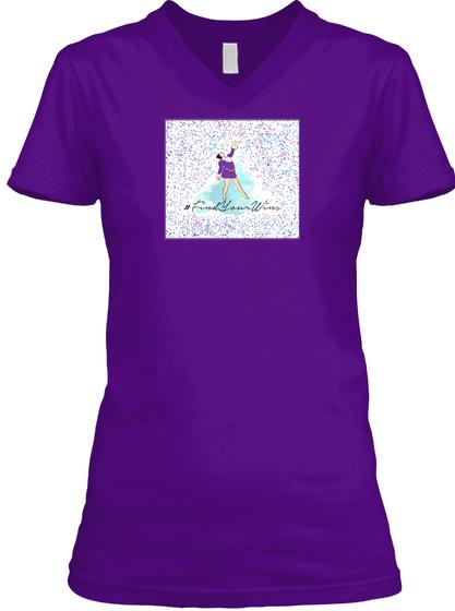 #Find Your Wins Purple Reign Team Purple  T-Shirt Front