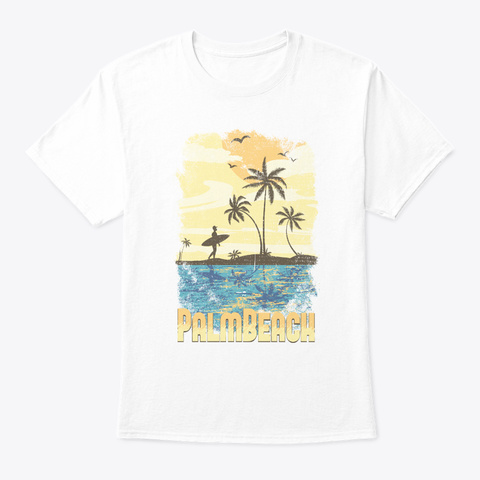 Palm Beach T Shirt White T-Shirt Front