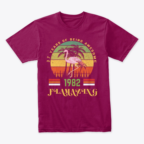 Gift For Birthday 37 Flamingo T Shirt Cardinal T-Shirt Front