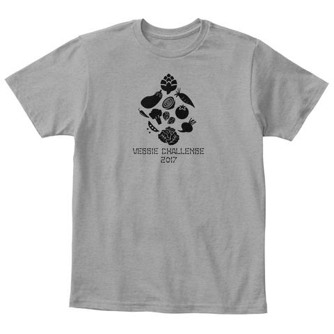 Veggie Challenge 2017 Light Heather Grey  T-Shirt Front