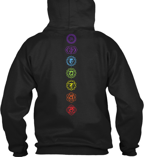 Chakra Healing   Zen Meditation Black Sweatshirt Back
