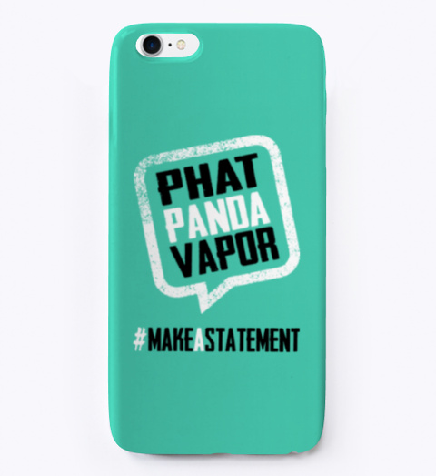 Phat Panda Statement Phone Case Aqua T-Shirt Front