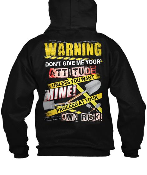 Laborer Zipper Hoodie Xmas Spl Black T-Shirt Back