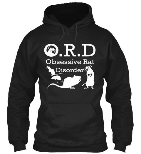 O.R.D Obsessive Rat Disorder  Black T-Shirt Front