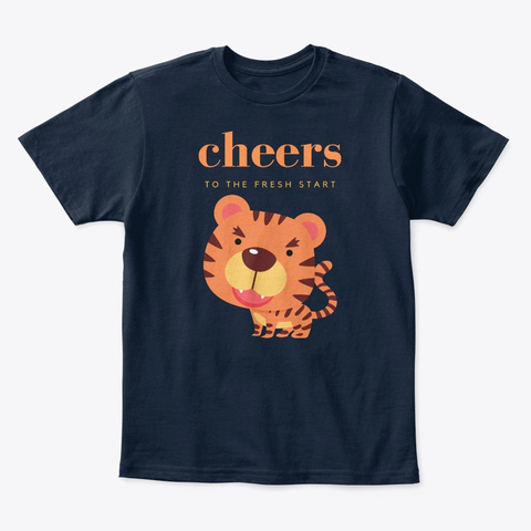 Beautiful Kids T Shirt Design   New Navy T-Shirt Front