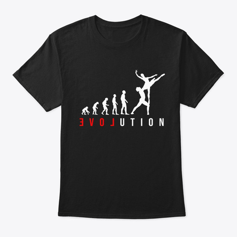 Gift For A Dancer   A Dancing Woman Or G Black T-Shirt Front