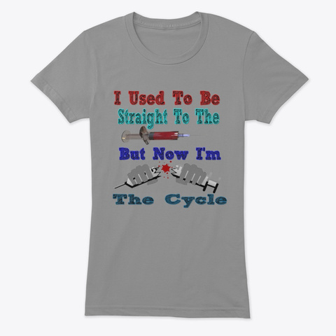 I Used To Be Straight To The Point Premium Heather T-Shirt Front