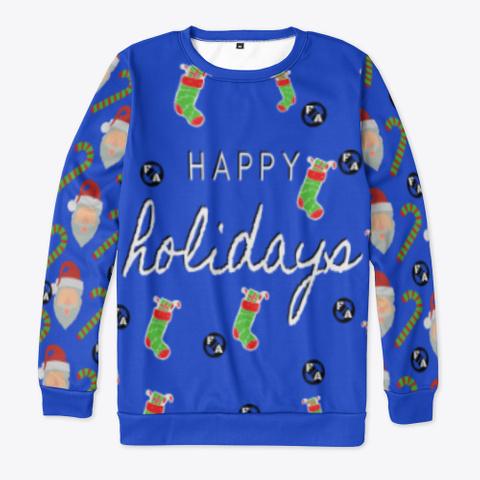 Happy Holidays  Royal Blue T-Shirt Front