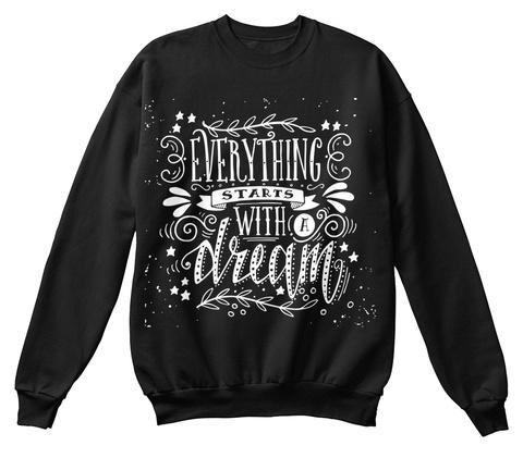 Best Valentine  Unisex Sweater  Black T-Shirt Front