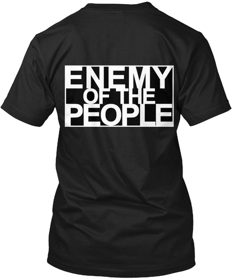 Enemy Of The People Black Maglietta Back