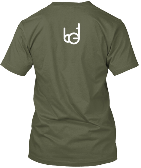 Consistency Is Key Military Green T-Shirt Back