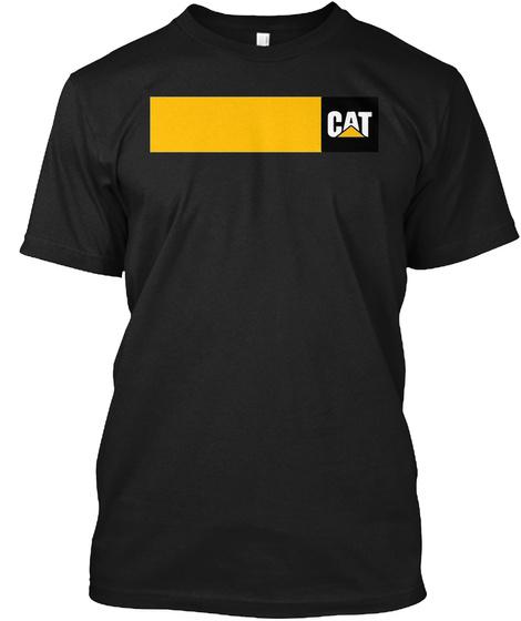 Cat Logo Funny Shirt Cat Tshirts Funny Black T-Shirt Front