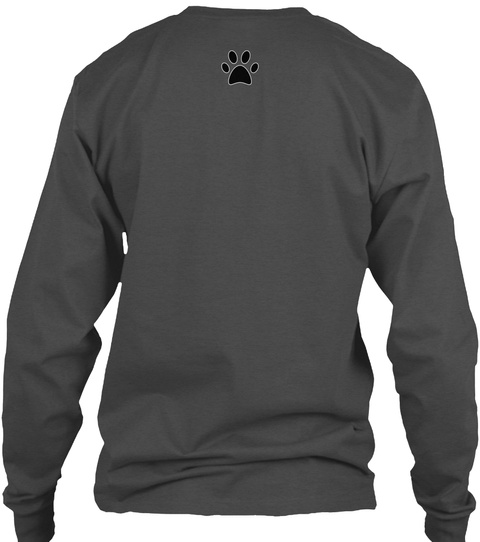 Love My Pointer Charcoal Long Sleeve T-Shirt Back