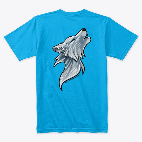 Classic Wolf Style Turquoise T-Shirt Back
