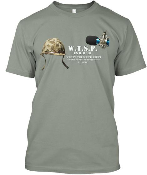 Wtsp Camo M1 Helmet Grey T-Shirt Front