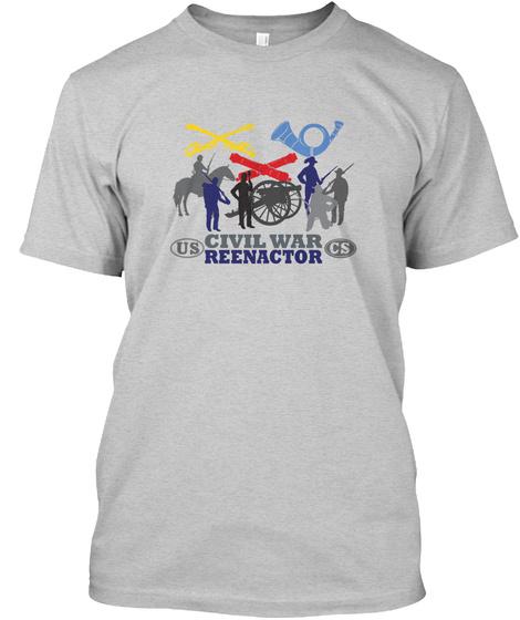 Civil War Us Cs Reenactor Light Steel T-Shirt Front