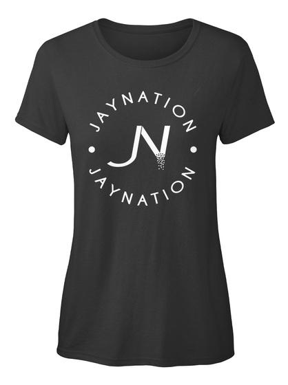 Jn Jaynation Black Tee Womens Black T-Shirt Front