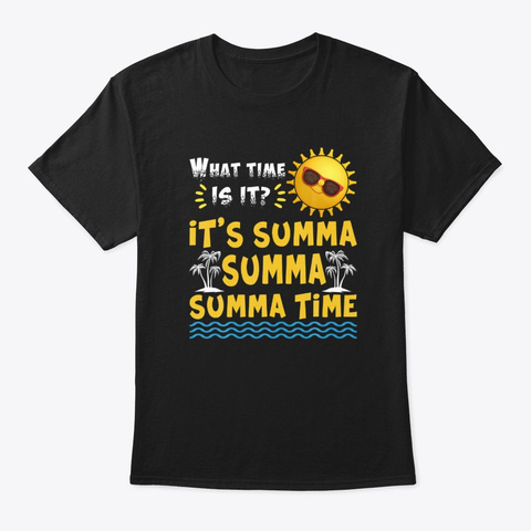 Last Day Of School Summer Time Teacher Black T-Shirt Front