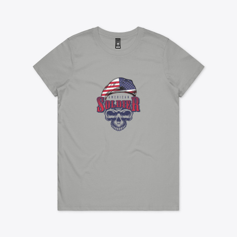 American Soldier Superhero T Shirt Athletic Heather T-Shirt Front
