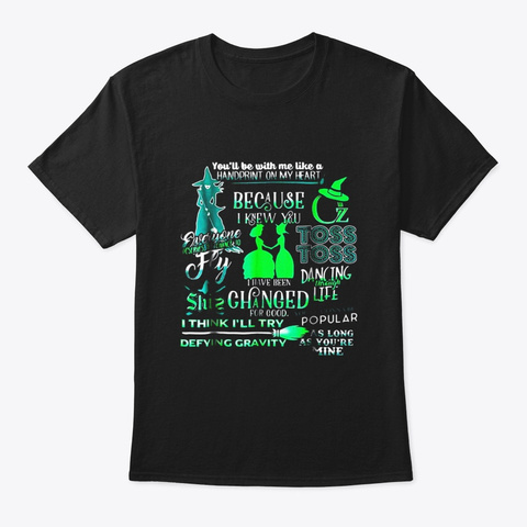 Wicked Musical Halloween Tshirt Black T-Shirt Front