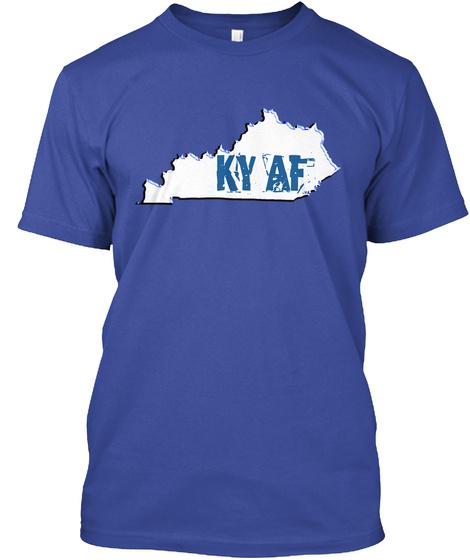 Ky Af Deep Royal T-Shirt Front