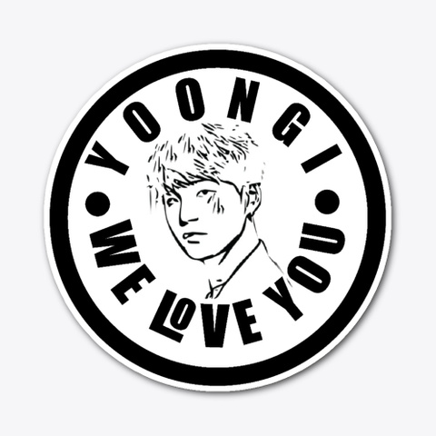 Yoongi's Crazy Fan Sticker Standard T-Shirt Front