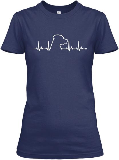 Ridgeback   Heart Beat Navy Women's T-Shirt Front