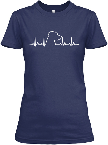 Ridgeback   Heart Beat Navy T-Shirt Front