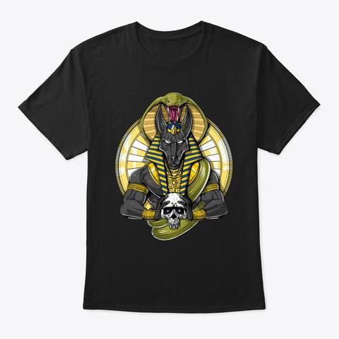 Anubis Skull Black T-Shirt Front