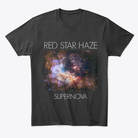 Red Star Haze   Supernova Cover Black T-Shirt Front